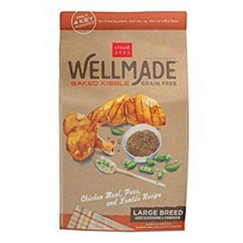 Cloud Star Well Made Grain Free Large Breed Chicken Meal, Peas - Lentils Formual Dry Dog Food 5lb - 10lb Made In Usa