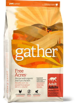 Petcurean Gather Free Acres Organic Free-run Grain Free Chicken Recipe Adult Dry Cat Food-4-lb-{L+1}