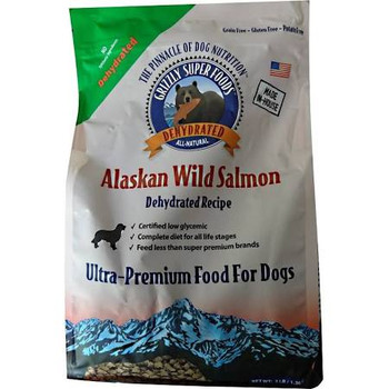 """Wild Alaskan salmon is the first and main ingredient of this ultra-premium pet food, resulting in an extremely low glycemic, high protein solution for dogs and cats.  It is a grain-free recipe that is gently dehydrated at their own facility to ensure"""""""