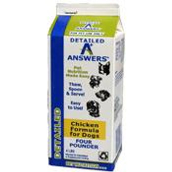 Answers Dog Frozen Detailed Chicken 4lb
