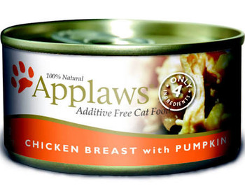 Take a bow at meal time with Applaws Chicken Breast with Pumpkin Canned Cat Food Topper If your cat could clap - youd receive a standing ovation with this mouthwatering complementary food topper Made with allnatural - shredded chicken breast along wi""