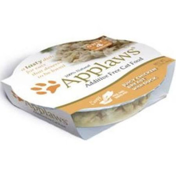 """APPLAWS Juicy Chicken Breast with Duck contains nothing more than the ingredients listed.  Applaws is a completely natural complementary pet food for adult cats."""""""