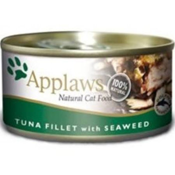 APPLAWS Tuna Fillet with Seaweed is a 100% natural complementary pet food for adult cats made with nothing more than the 4 ingredients listed and contains sea caught fish which can be rich in essential amino acids and fatty acids such as Omega 3   Om""