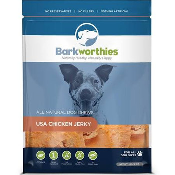 """These all natural chews are brimming with protein to help support healthy muscle growth and development.  Made with real chicken, antioxidant-rich blueberries and immune boosting cranberries, this succulent jerky will have your pooch looking and feel"""""""