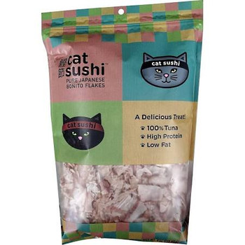 """Felines will be excited to get their paws on Japanese Bonito Flakes.  This protein rich treat is gently dried and features 100% Tuna.  Being a natural source of fish oil, it can promote healthy skin and coat health.  Bonito Flakes can be fed as a tre"""""""