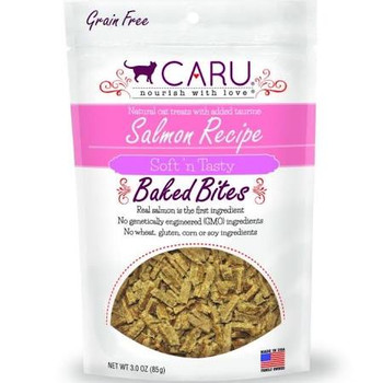 Caru Cat Bites Natural Salmon Recipe 3oz {L-x}