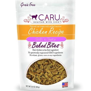 Caru Cat Bites Natural Chicken Recipe 3oz {L-x}