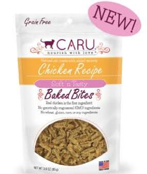 Caru Cat Bites Natural Tuna Recipe 3oz {L-x}
