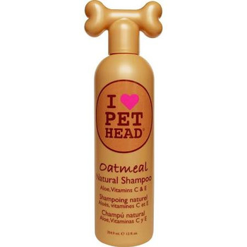 """Aloe, vitamins C &amp E.  Comfort for your dog.  Natural shampoo blended with oatmeal, aloe vera and vitamins E &amp C, heal and protect sensitive skin.  Jojoba oil and oatmeal work together to moisturize the skin and soften the coat.  Yummy oatmeal"""""""