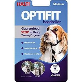 The Company of Animals OptiFIT, like the original Halti design, naturally prevents dogs from pulling in an effective, friendly, and humane way.  That is because it guides the dog's head, and so the animal's body must naturally follow.""
