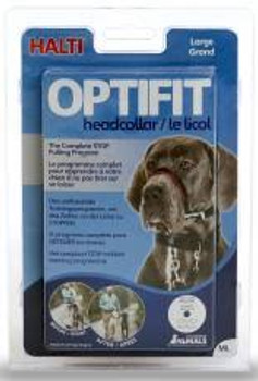 """The Company of Animals OptiFIT, like the original Halti design, naturally prevents dogs from pulling in an effective, friendly, and humane way.  That is because it guides the dog's head, and so the animal's body must naturally follow."""""""