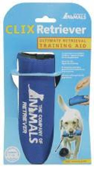 """The ultimate in retrieval training aids.  In The Company of Animals CLIX Retriever combines a classic retrieval aid with an innovative training treat dispenser, making it quick and easy to reward good behavior."""""""