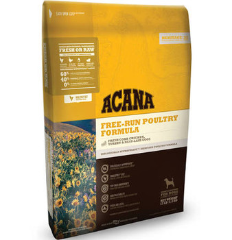 Acana Heritage Free Run Poultry Formula Grain Free Dry Dog Food-4.5-lb-{L+x}