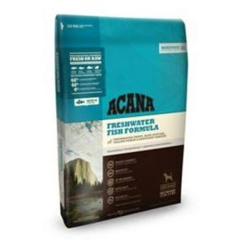 """ACANA Heritage Freshwater Fish Formula Grain-Free Dry Dog Food, 25-lb bag ACANA Heritage Freshwater Fish Formula Grain-Free Dry Dog Food celebrates ACANA s heritage as a biologically appropriate diet that s rich in protein and trusted by pet parents."""""""