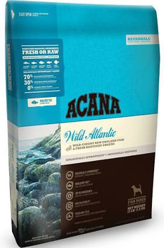 Acana Regionals Wild Atlantic Dry Dog Food Loaded with wild-caught mackerel, herring, redfish, silver hake and yellowtail flounder, this region-inspired food reflects New England's sustainable maritime bounty.  Delivered fresh, in WholePrey rations,""