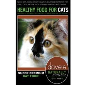 Dave's Naturally Healthy Adult Cat is designed to provide a healthy and balanced nutrition.  It's made with real chicken, which means your cat will love it.  Wholesome, fresh ingredients like cranberries and blueberries that may even help maintain ur""