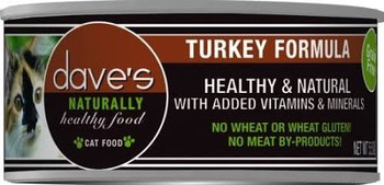 Dave's Pet Food Cat Naturally Healthy Turkey 5.5oz