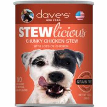 Dave's Pet Food Dog Grain Free Stewlicious Chunky Chicken Stew 13oz