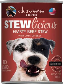 Dave's Pet Food Grain-free Meaty Beefy Formula Is Loaded With Real Protein And A Great Taste Your Dog Will Love! Healthy, Grain-free, All Natural With Added Vitamins And Minerals To Keep Your Dog Healthy And Active. No Artificial Flavors Or Colors.