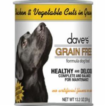 Dave's Dog Grain Free Chicken - Vegetable In Gravy 13.2oz