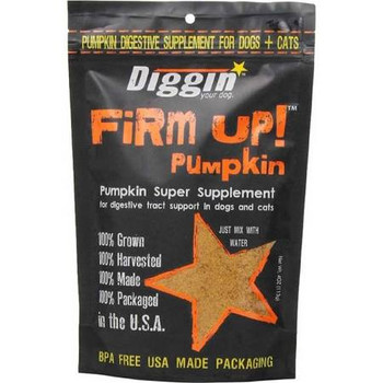 """FiRM UP!  Original Pumpkin Super Supplement - Trail Size 1 Oz. Veterinary Approved.What you get with FIRM UP!:Convenience.  Simply Mix with water for a canned pumpkin supplement consistency.  FiRM Up!  is very cost effective and waste free.   Great f"""""""