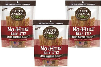 Earth Animal Dog No Hide Beef Small 10pk {L-x}