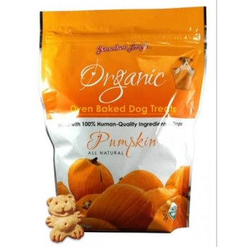 Grandma Lucy's Organic Oven Baked Pumpkin Natural Dog Treats (14-oz bag) Grandma Lucy's organic dog treats are not made in a factory but baked in a bakery by people who love their pets.  Since 1999, Grandma Lucy's has taken great pride in making whol""