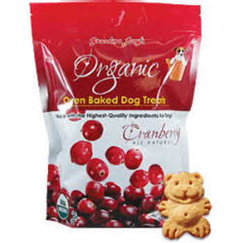 Grandma Lucys Cranberry Organic Oven Baked Dog Treat 14 Oz Grandma Lucys organic dog treats are not made in a factory but baked in a bakery by people who love their pets.  Since 1999 Grandma Lucys has taken great pride in making wholesome natural and""