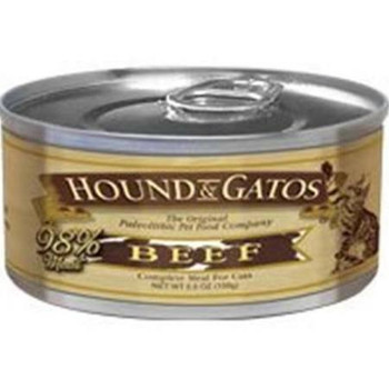 """Give your cat a healthy serving of nutrition you can t buy in processed, commercial cat food.  Our Hound &amp Gatos cat food is made from 100% animal protein the highest meat source in the industry.  With delicious flavors including chicken, salmon,"""""""