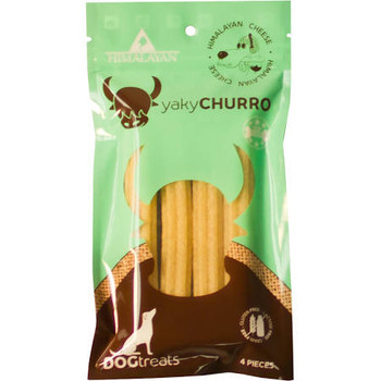 """Himalayan Dog Chew yakyChurro Cheese is part of the new, USA Made, yakySNACKS line of treats from Himalayan, the renowned producers of your dog's favorite, Himalayan Dog Chew.  The addition of potato starch to our original Himalayan cheese naturally"""""""