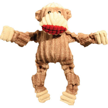 The Sock Monkey Knottie is super cute and soft.  Each toy is super tough and has those bright red lips!  Wee Huggles are made so even the tiniest of dogs can enjoy a good time with toys made just right for their small mouths.  Each toy has one squeak""