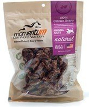 Momentum Dog Cat Freeze-dried Chicken Heart 1oz {L+x} -