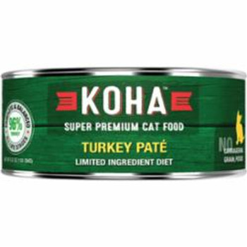 Koha Cat Grain Free 95% Turkey 5.5oz {L-x} C=24