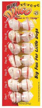 Dingo Knotted Mini 7 Pack White 2.5""