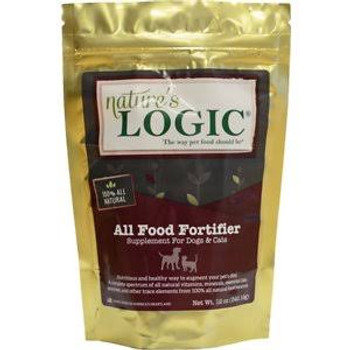 Nature's Logic All Food Fortifier Dog &amp Cat Supplement - 12-oz bag Nature's Logic All Food Fortifier Supplement is a nutritious and healthy way to augment your pet's diet with a complete spectrum of all-natural vitamins - minerals -