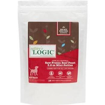 Nature's Logic Dog Frozen Beef Patty 3.2oz 3lb Bag