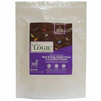 Nature's Logic Dog Frozen Rabbit Patty 3.2oz 3lb Bag