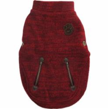 Canada Pooch Northern Knit Pullover Maroon Size 10 {L-x}