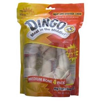 Dingo White Bone Value Bag Medium 4 Pk.