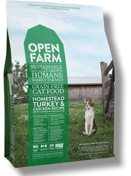Open Farm is the first dry cat food to be Certified Humane, using humanely raised meat from local farms and ranches, wild ocean whitefish caught using sustainable practices, and fresh, locally harvested fruits and vegetables.  Recipes contain fully t""