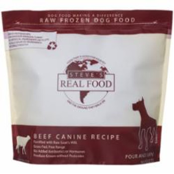 Steve's Real Food Dog Frozen Beef Nuggets 5lb