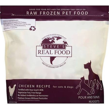 Steve's Real Food Dog Frozen Chicken Nuggets 5lb !{L-x} SD-5