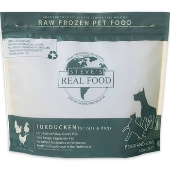Steve's Real Food Dog Frozen Turducken Nuggets 5lb