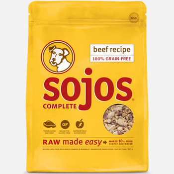 Sojos Dog Freeze Dried Complete Adult Beef 4oz {L+1x}