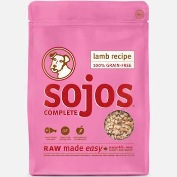Sojos Dog Freeze Dried Complete Adult Lamb 4oz {L-x}