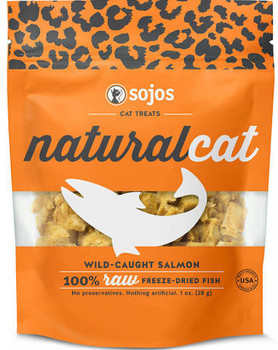 """This single-ingredient treat features 100% raw wild-caught salmon that s been gently freeze-dried to protect the natural enzymes, vitamins and minerals in this nutritional powerhouse.  High-quality salmon protein delivers essential amino acids to hel"""""""