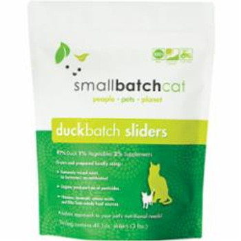 Small Batch Cat Frozen Duck Sliders 3lb {L-x} SD-5