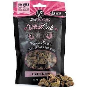 Vital Essentials Vital Cat Freeze Dried Grain Free Chicken Giblets Cat Treats-1-oz-{L+x}