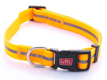 Wigzi Reflective Weatherproof Adjustable Collar Small Neon Orange {L+x} 748033