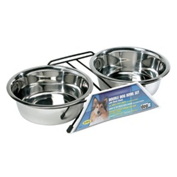 Dogit Ss Double Diner Dish Large 50.7oz {requires 3-7 Days before shipping out}